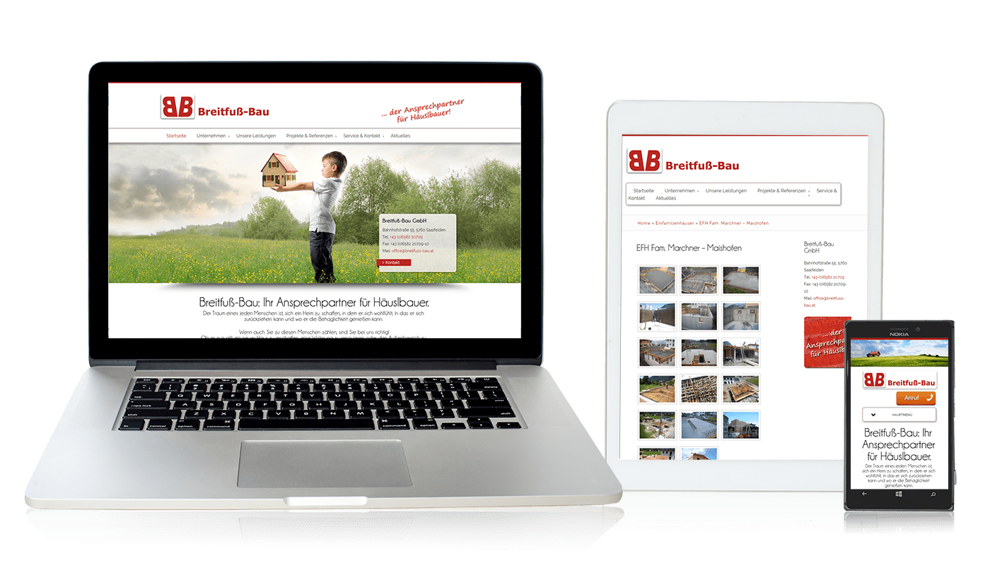 Website Breitfuß Bau GmbH